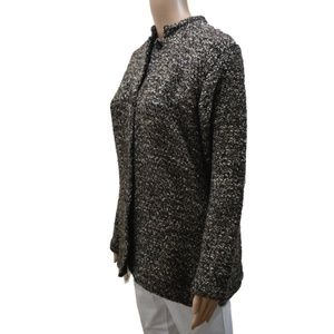 Chico's  Button-down Tweed Jacket